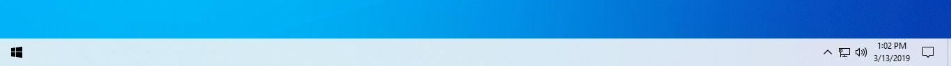 clean up taskbar