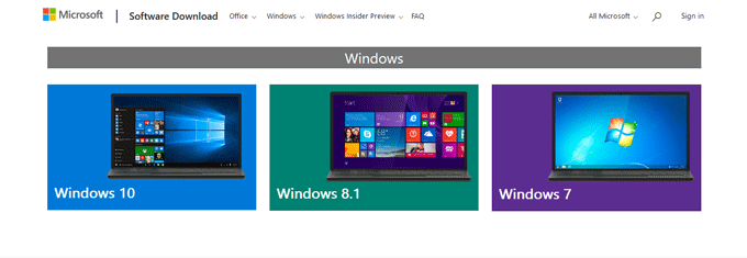 Windows 10 Download Website