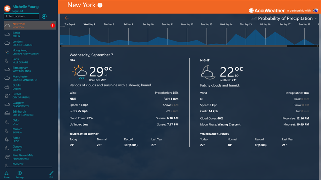 10 Best Weather apps Windows 10 with Desktop Widget