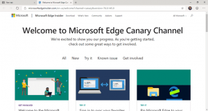 Chromium Edge Homepage