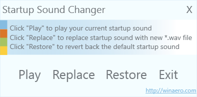 startup sound changer