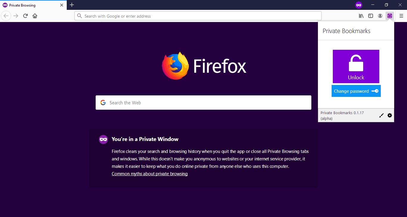 FireFox Private Bookmarks