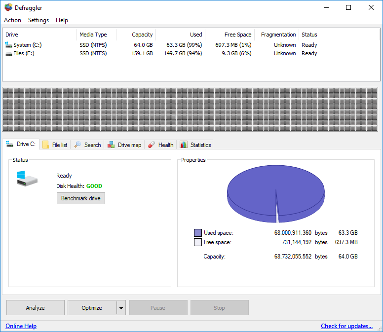 Defraggler - Disk Defragmenter