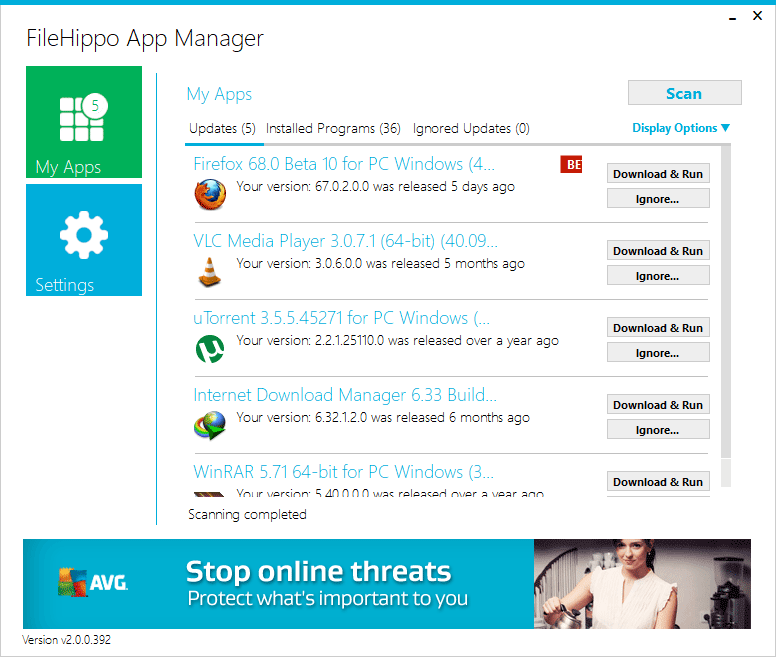Filehippo App Manager - Best Software Updater