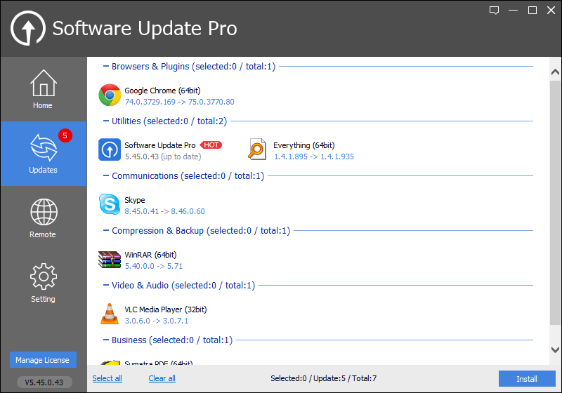 Glarysoft Software Update - Top Software Updater
