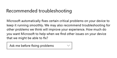 Recommended Troubleshooting