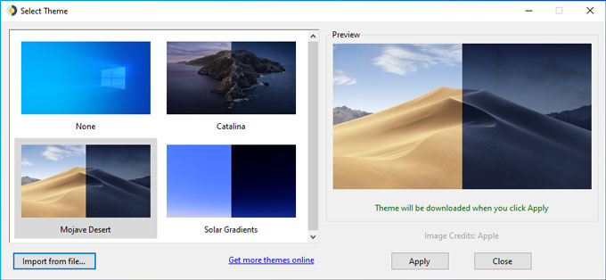 Set Dynamic Desktop Wallpaper On Windows 10 Like Mac Mojave