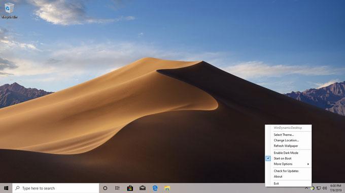 WinDynamic Desktop Menu
