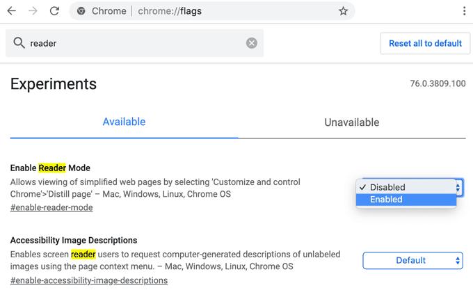 Distilled Mode in Chrome