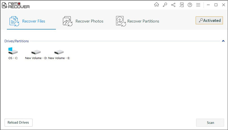 Remo Recover Data Recovery Tool