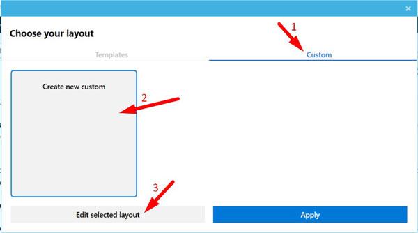 Create Custom Layout