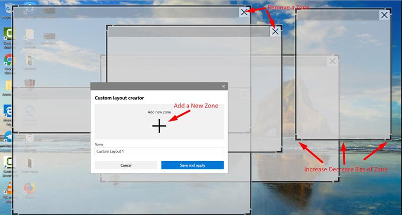 Editing Custom Zones