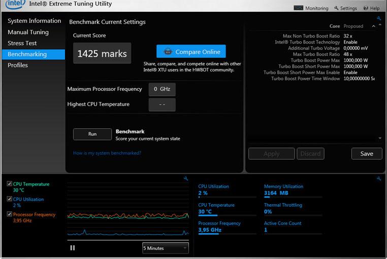 Intel-Xtreme-Utility best overclocking software