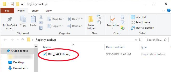 Registry-backup-file