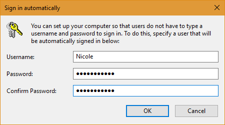 Prompt before disabling Password