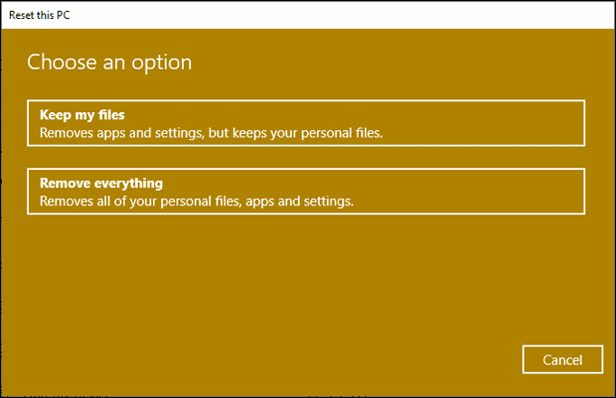 keep or remove files