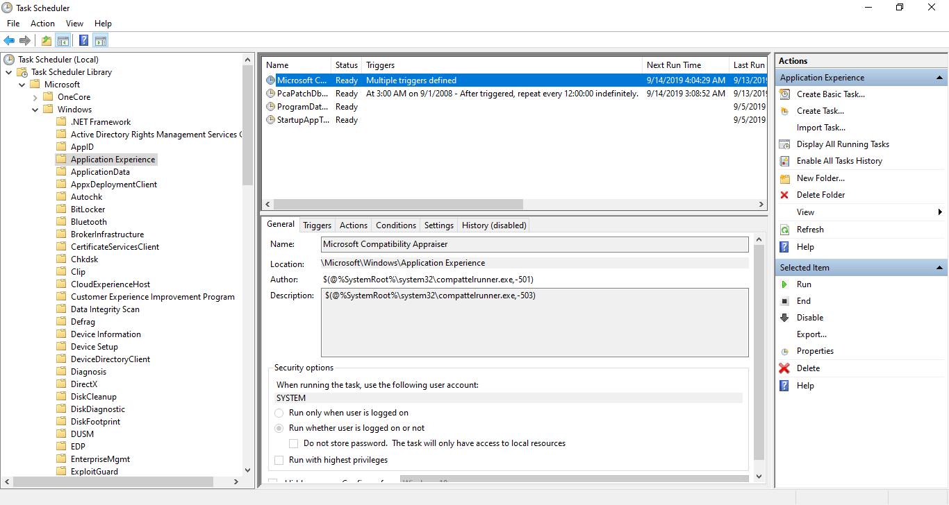 task scheduler appraiser