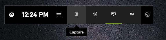 Click on the capture button