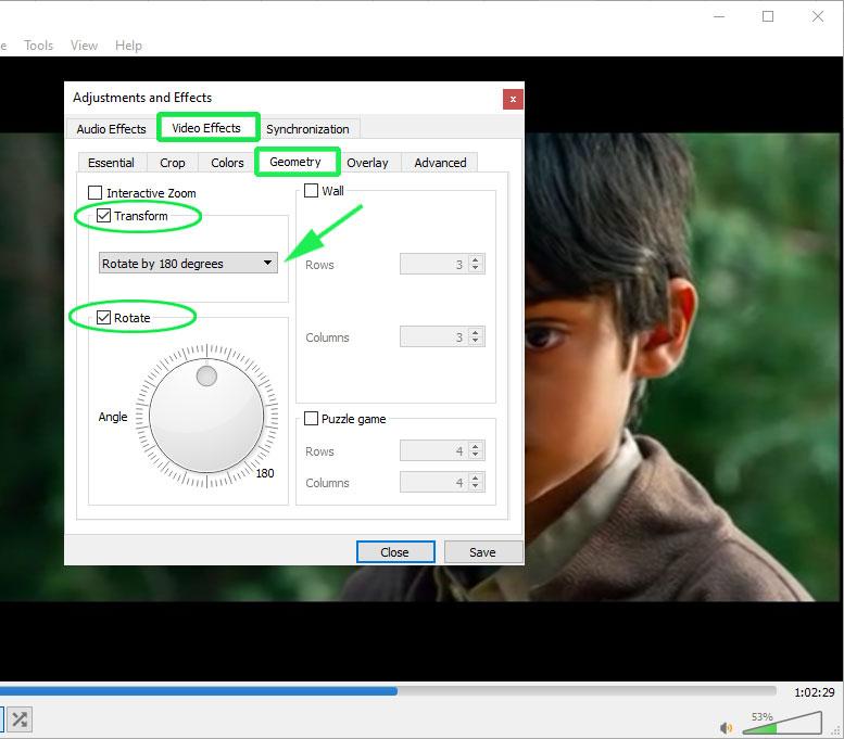Adjust Video Rotation
