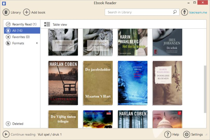 Icecream Ebook Reader