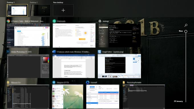 Multitasking in WIndows 10