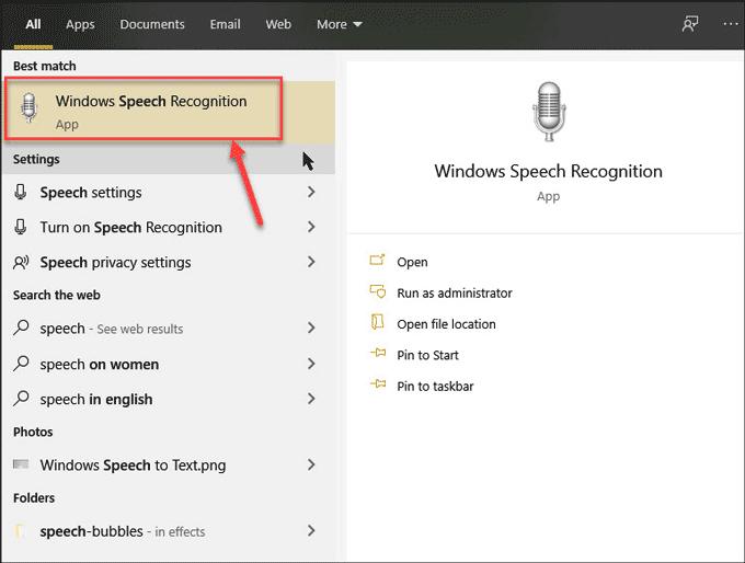 Windows Speech to Text 1