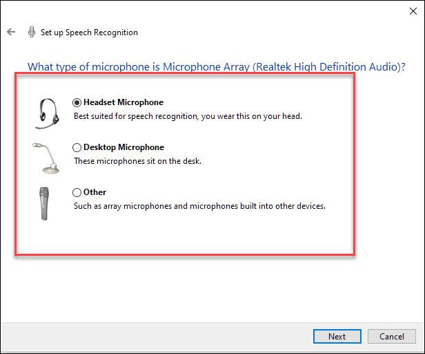 Windows Speech to Text 2