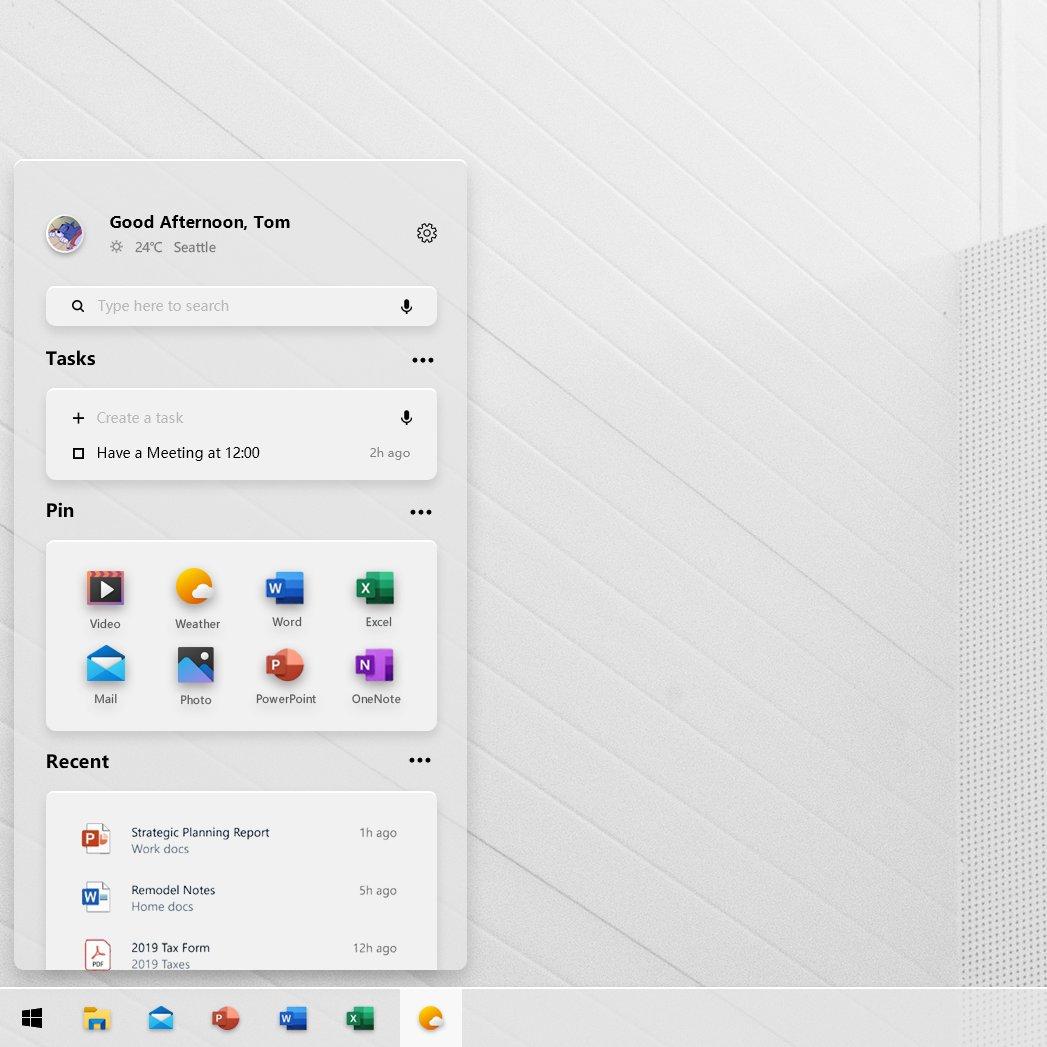 Windows 10 Concept Art Start Menu