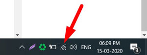 Click on Network Icon