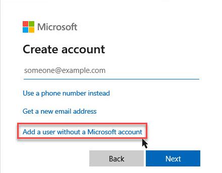 Create Local Account Step 5