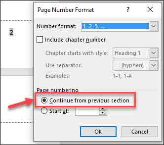 Fix Page Number step 3