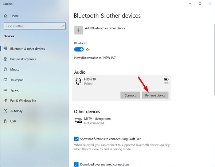 Re-Pair Bluetooth Device 3
