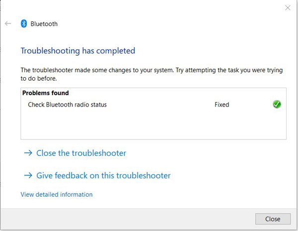 Run Bluetooth Troubleshooter 5