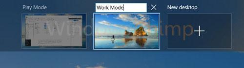 Virtual Desktop can be renamed