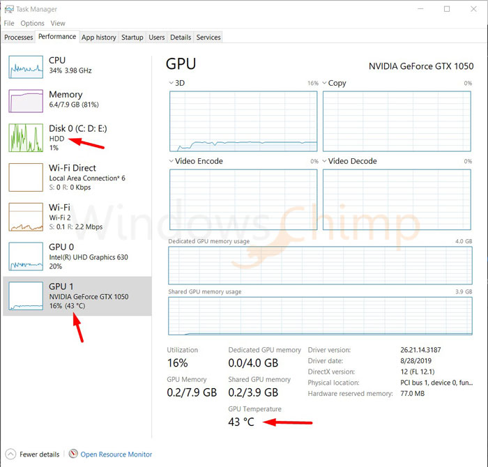 Windows 10 20H1 Update Task Manager Feature