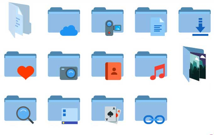 Flat Color W10 IconPack
