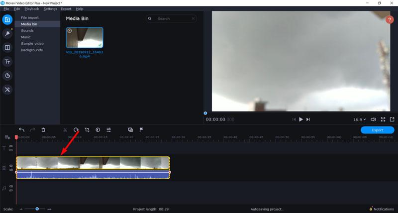 Trim Videos using Movavi 2