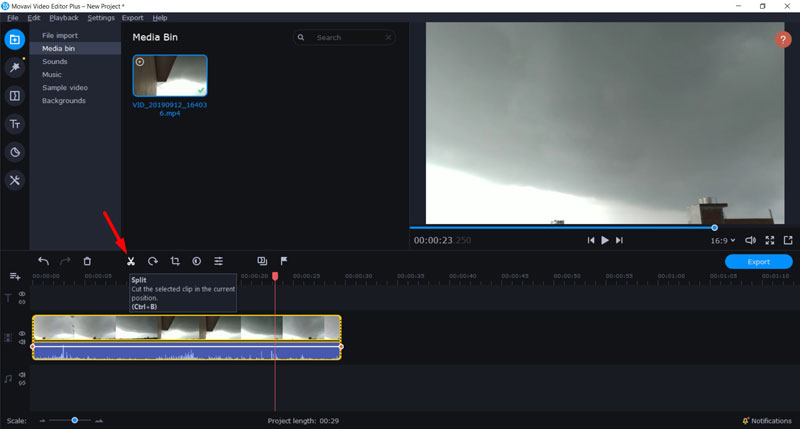 Trim Videos using Movavi 3
