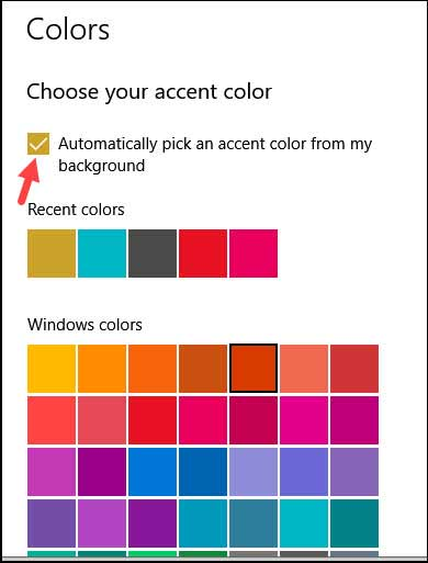 Choose your accent color