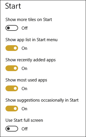 How your App list Looks on Start Menu