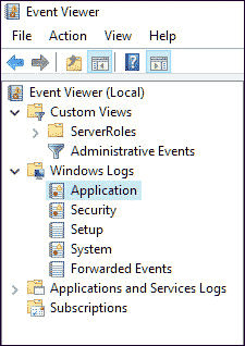 Event Viewer Categories