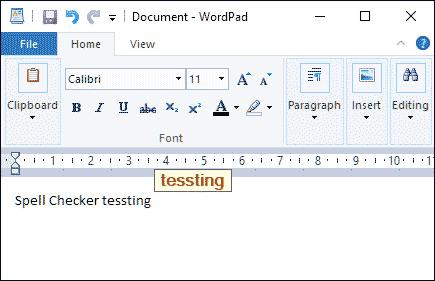 spellCheck testing