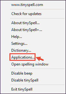 tinySpell Applications