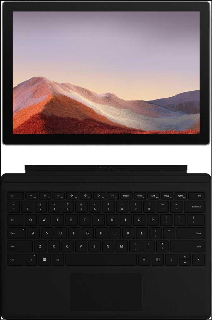 Best Hybrid Laptop - Microsoft Surface Pro 7