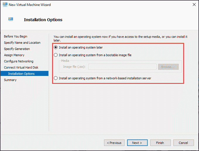 OS installation option