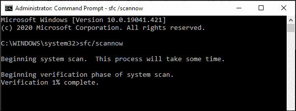 SFC scan start