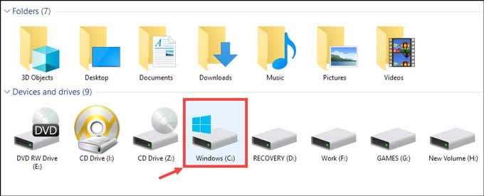 Windows System Drive
