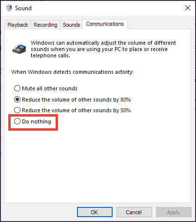 sound settings do nothing