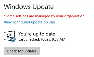 avoid check for updates