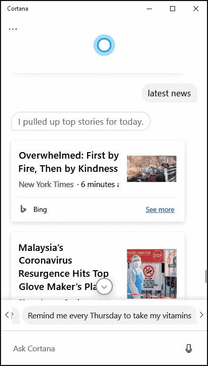 Cortana latest news